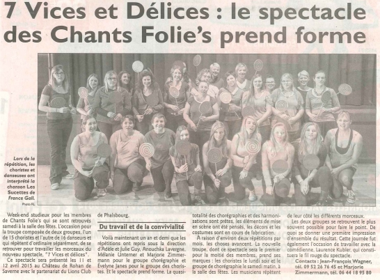 Article Républicain Lorrain 12/11/2014